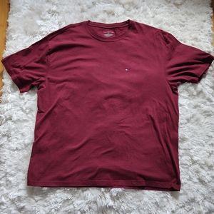 Tommy Hilfiger burgundy t-shirt sz xl
